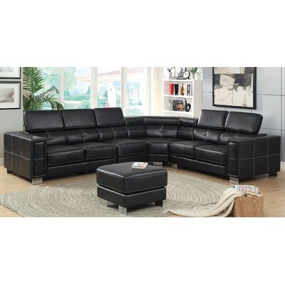 Hokku Designs Travillen Sectional with Ottoman