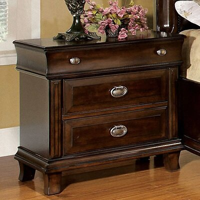 Hokku Designs Tolsi 2 Drawer Nightstand