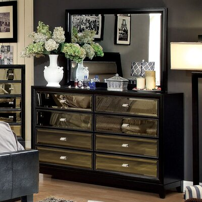 House of Hampton Strollini 8 Drawer Dresser with Mirror