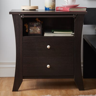 Latitude Run Dylan 2 Drawer Nightstand
