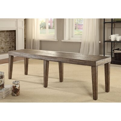 Canora Grey Shelby Wood Kitchen Bench
