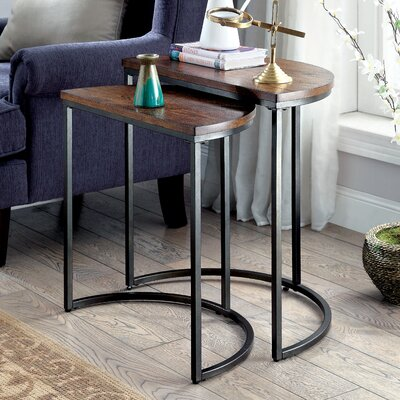 Mercury Row Euphemia 2 Piece Nesting Tables (Set of 2)