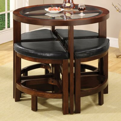 Red Barrel Studio Alchemist 5 Piece Counter Height Pub Table Set