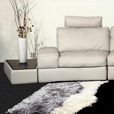 Hokku Designs Modi Leather Wedge End Table