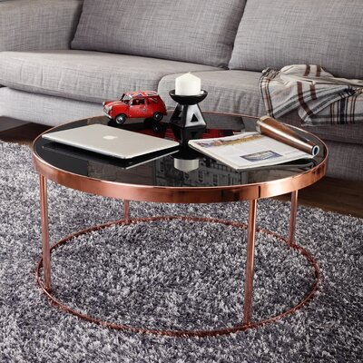 Mercer41 Chartreuse Contemporary Coffee Table