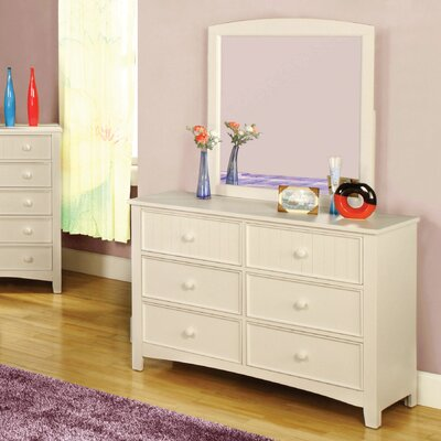 Hokku Designs Alyssa 6-Drawer Double Dresser
