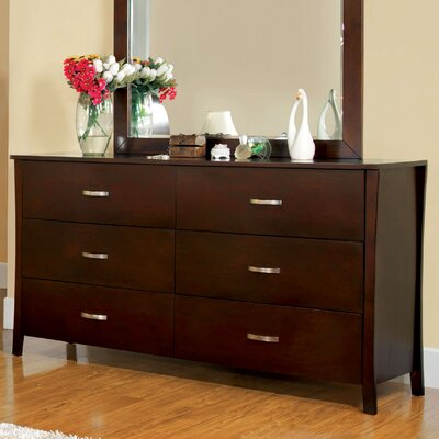 Hokku Designs Brookville 6 Drawer Dresser