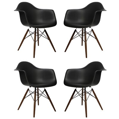eModern Decor Scandinavian Arm Chair (Set of 4)