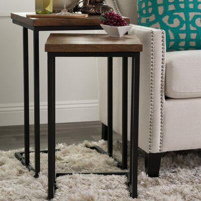 Brayden Studio Lineberger 2 Piece Nesting Table Set