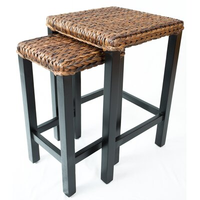 BirdRock Home 2 Piece Seagrass Nesting Table