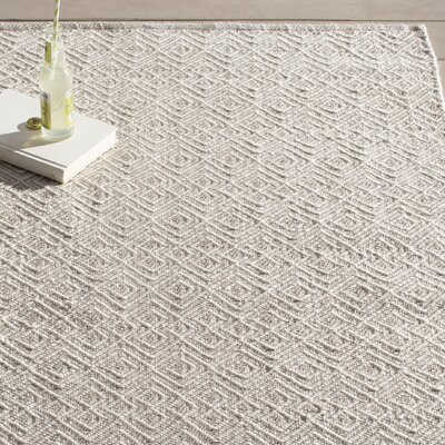 Annabelle Hand-Woven Grey/Ivory Indoor/Outdoor Area Rug & Reviews ...