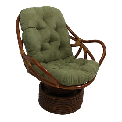International Caravan Rattan Swivel Rocker
