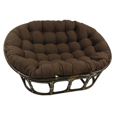 International Caravan Double Papasan Chair with Solid Color Cushion