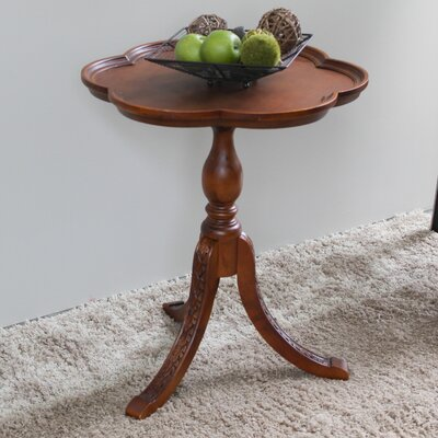 Astoria Grand Barron Hand Carved Wooden End Table
