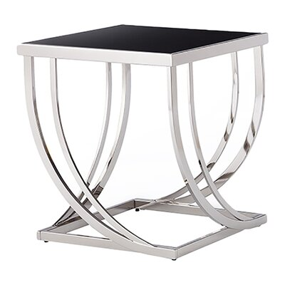 Wade Logan Proctor Arch Curved Sculptural End Table