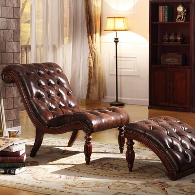 Three Posts Cedarville Chaise Lounge and Ottoman Set