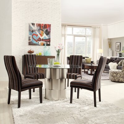 Kingstown Home Emanuella Drum Glass Dining Table