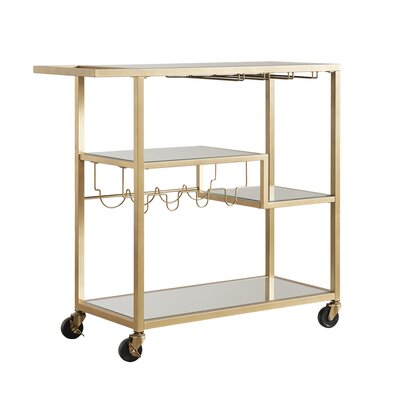 House of Hampton Pollack Serving Cart