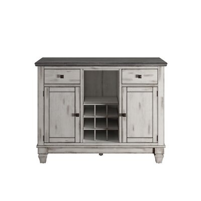 Lark Manor Nathalie Kitchen Island with Wood Top
