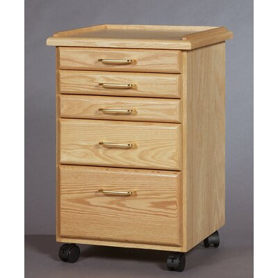 SMI Products Classic 5 Drawer Vertical File