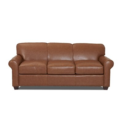 Wayfair Custom Upholstery Jennifer Leather Sofa
