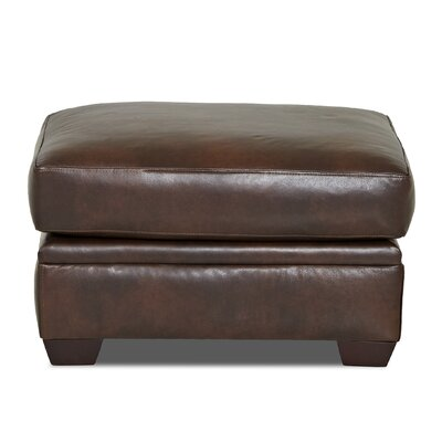 Wayfair Custom Upholstery Carleton Leather Ottoman