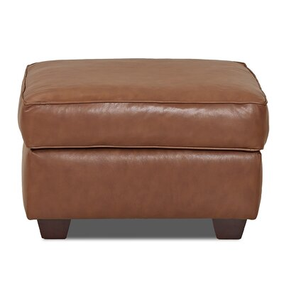 Wayfair Custom Upholstery Jennifer Leather Ottoman Image