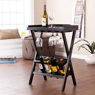 Holly & Martin Acorra 4 Bottle Floor Wine Rack
