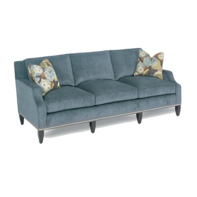 Classic Comfort Modern Notch Armed Sofa
