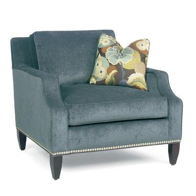 Classic Comfort Modern Notch Arm Loose Pillow Back Club Arm Chair