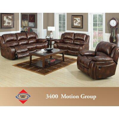 E-Motion Furniture Mt. Washington Leather Reclining Sofa