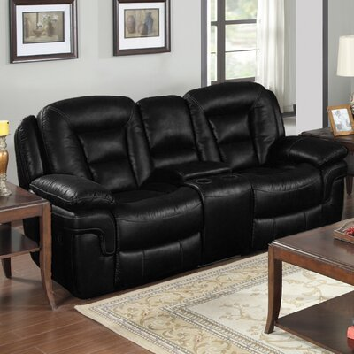 E-Motion Furniture Atlas Leather Reclining Loveseat