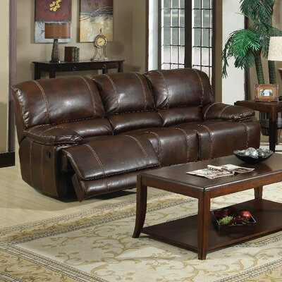E-Motion Furniture Mt. Hood Leather Reclining Sofa