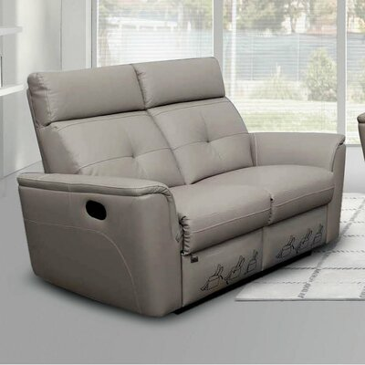 Brady Furniture Industries Noci Leather Reclining Loveseat