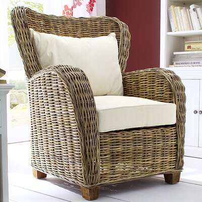 NovaSolo Wickerworks Queen Chair with Cus..