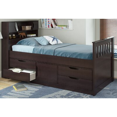 CorLiving Madison Twin Captain Bed with Stor..