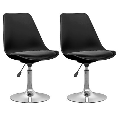 Wade Logan Wylo Adjustable Height Swivel Bar Stool (Set of 2)