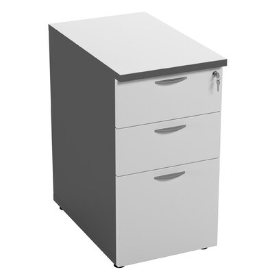 Symple Stuff 3 Drawer Desk Height Filing Cabinet