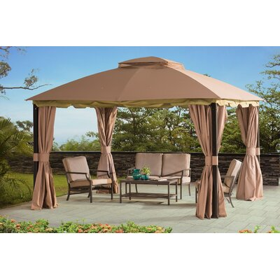 sunjoy pine knob canopy 10 ft w x 12 ft d metal portable gazebo u0026 reviews wayfair - Sunjoy Gazebo
