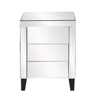 Howard Elliott 3 Drawer Nightstand