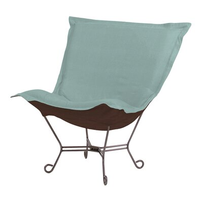 Howard Elliott Puff Scroll Sterling Lounge Chair