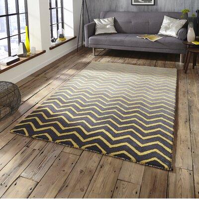 think rugs handgetufteter teppich spectrum in grau gelb. Black Bedroom Furniture Sets. Home Design Ideas