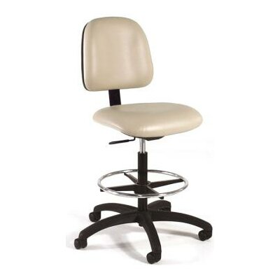 Intensa Height Adjustable Laboratory Stool with Seat and Back Tilt