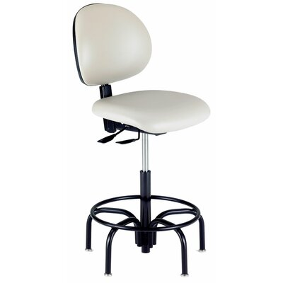 Intensa Height Adjustable Laboratory Stool with Tubular Steel Base Image