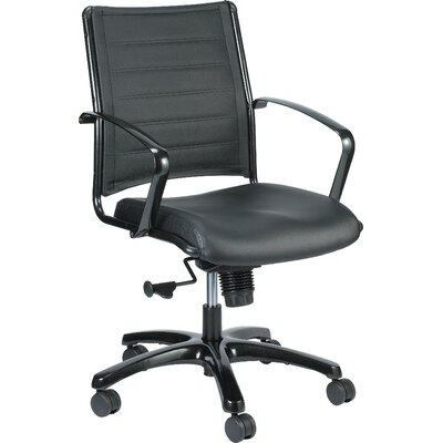 Eurotech Seating Europa Mid-Back Leather Desk Chair