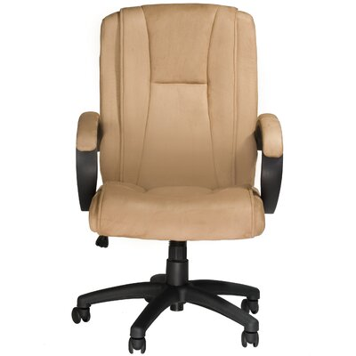 Zipcode™ Design Mariella Beige Faux Suede Executive Chair