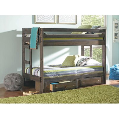 Wildon Home ® Wrangle Hill Youth Twin Bunk Bed with Storage