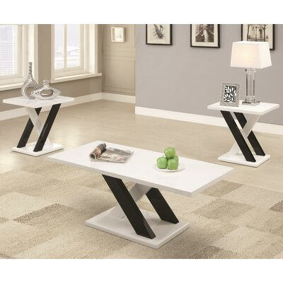 Wildon Home ® 3 Piece Coffie Table Set
