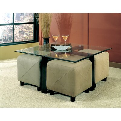 Wildon Home ® Hines Coffee Table and 4 Ottomans