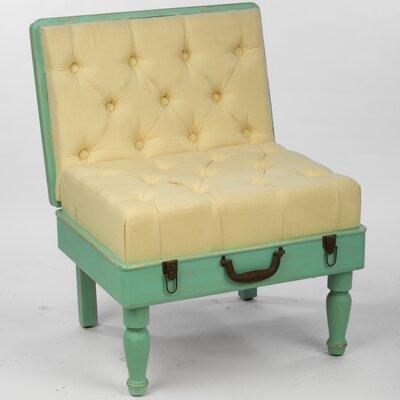 Tripar Wooden Suitcase Slipper Chair